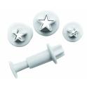 Ibili - emporte-pièce avec piston étoiles, set de 3