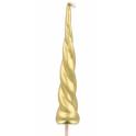 Bougie dorées, corne de licorne, 1 pièce