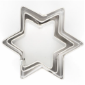 Cookie cutter star, set of 3