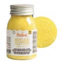 Decora Sucre coloré jaune (sanding sugar), 100 g