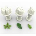 Dekofee - Leaf mini Fondant Plunger Cutter, set of 3
