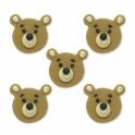 AH - Décoration en sucre Teddy Bear, 5 pièces