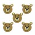 AH -  Icing Decorations Teddy Bear, 5 pieces