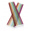 Tall candles Candles Metallic Rainbow, 16 pieces