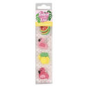 Baked with Love Icing Decorations Tropical flamingo, 10 pieces