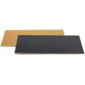 Rectangular Cake Board golden and black, 15 x 30 cm, set de 3