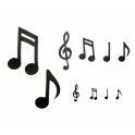 Patchwork Cutter Extra large music notes, set of 10