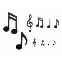 Patchwork notes de musique,  set de 10 pièces