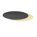 Cake Board Golden and black  cm 24 diameter