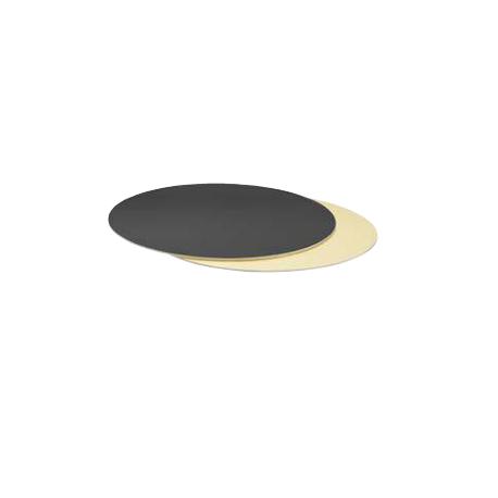 Cake Board Golden and black  cm 32 diameter