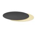 Planche dorée/noire ronde, diamètre 40 cm