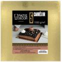 Cake Board golden and black, 18 x 18 cm, set de 5