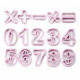 Ibili - Emportes-pièces chiffres en plastique, set de 15 pièces