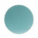 Planche bleu bébé ondulée, diamètre 20 cm