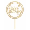 Dekora - Topper Happy Birthday round