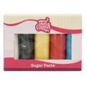 Funcakes fondant multipack primary colours, 5 x 100 g