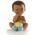 Figurine bébé assis avec ballon, 1 pièce