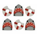 AH -  Icing Decorations shark and life buoy, 6 pieces