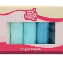 Funcakes pâte à sucre nuances de bleu, 5 x 100 g