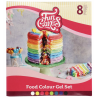 FunCakes Concentrated Colour gel, kit 8 colours