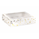 AH - Boîtes à 12 cupcakes à étoiles dorée, 1 pièce