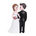 """Wedding cake topper couple """"Looking each other"""""""