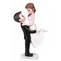 "Wedding cake topper couple ""Bride scope"""