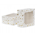 AH - treat boxes with window gold stars, 3 pieces