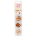 Baked with Love Icing Decorations woodlands animals, 10 pieces