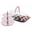 Ibili - Cupcake carry box, incl. gold & stand