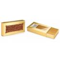 Boîte plate dorée, approx. 10 x 22 x 2.5 cm, 2 pièces
