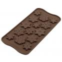 Silikomart - Moule Choco flocons, 15 cavités