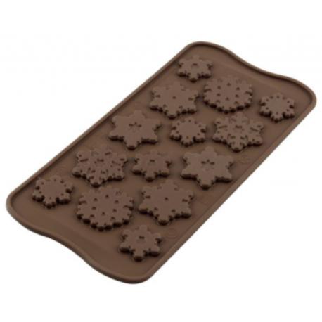 Silikomart - Choco Snowflakes, 15 cavities