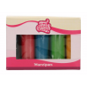 Funcakes marzipan multipack essential colours, 5 x 100 g