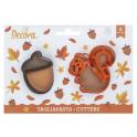 Decora - Cookie Cutter Squirrel & Acorn , 2 pieces