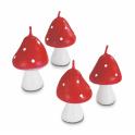 Bougies champignon, set de 4