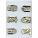 Plastic mold for chocolat tombstone, 6 cavities