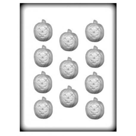 CK - Hard candy mold Jack-o-lantern, 11 cavities