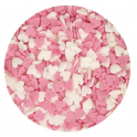 FunCakes - Confetti coeurs rose & blanc, 60 g