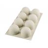 Silikomart - Moule en silicone Tartufo 120 ml, 8 cavités