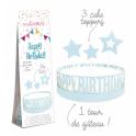 Scrapcooking - Cake Wrap Happy Birthday, 1+3 pieces