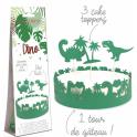 Scrapcooking - Tour de gâteau Dino, 1+3 pièces