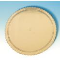 Planche dorée ondulée, diamètre 32 cm