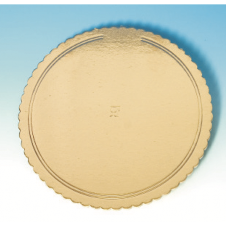 Corrugated board golden, 32 cm