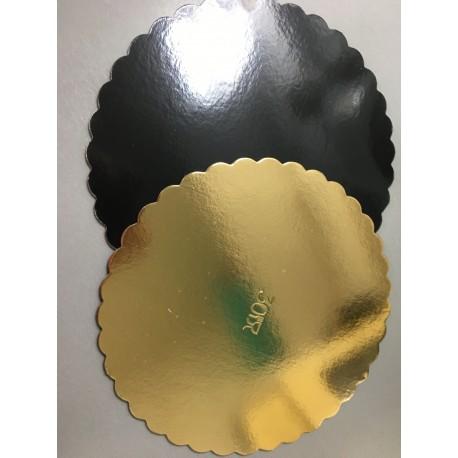 Corrugated board black & gold, 30 cm
