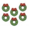 AH - Décoration en sucre couronne Noël, 6 pièces