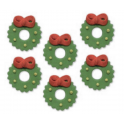 AH -  Icing Decorations Christmas Wreaths, 6 pieces