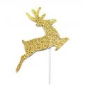 AH - Small toppers golden Reindeer, 12 pieces
