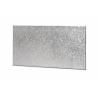 Planche à buche (petite) argentée rectangulaire, 25 x 12 cm