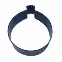 Cookie Cutter Round Bauble blue, 7.6 cm
